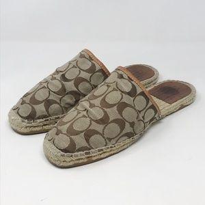 Coach Danni Espadrille Slides Shoe Size 11